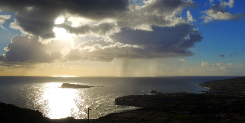 Op de Azoren verandert het weer elke 5 minuten.