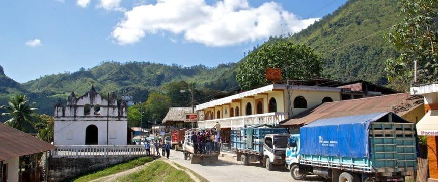 Het dorp Lanquin