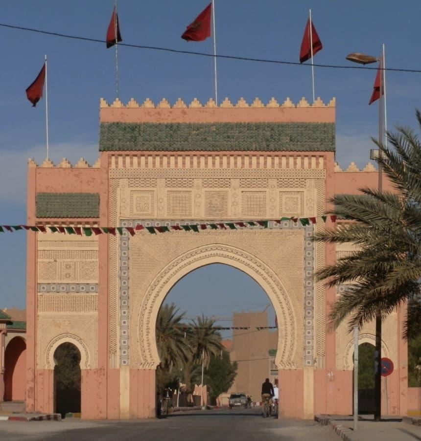 De poort naar de woestijn in Erfoud