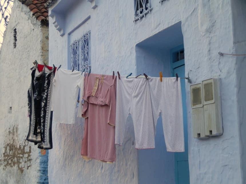 Wasgoed in Chefchouan