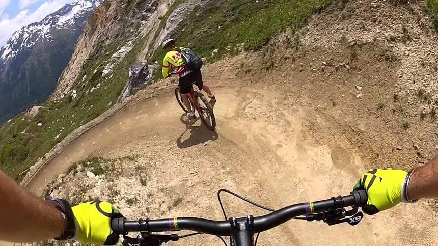 Mountainbiking in St Moritz.