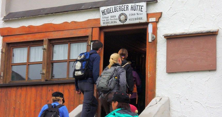 In de Heidelberger Hütte eet je op niveau.