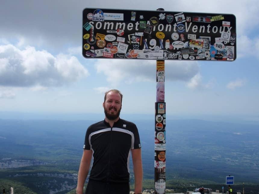 koen van huut op de Mont Ventoux.