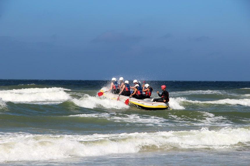 Coast rafting op waddeneiland Terschelling
