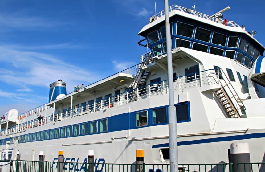 Met de veerboot naar Waddeneiland Terschelling