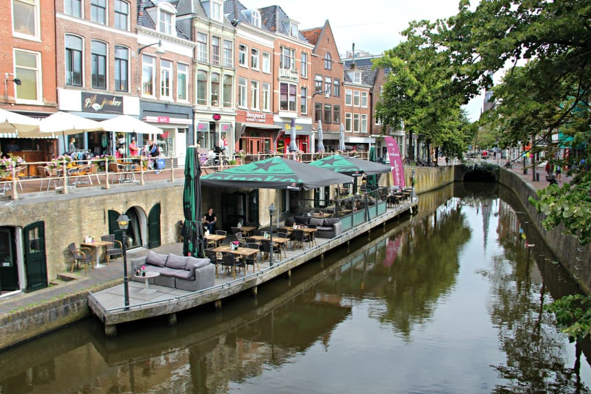 De grachten van Leeuwarden, hoofdstad van Friesland