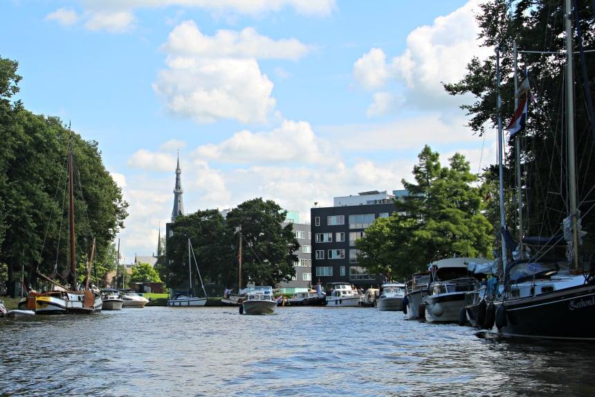 De Prinsentuin in het Friese Leeuwarden is een van de mooiste passantenhavens van Nederland