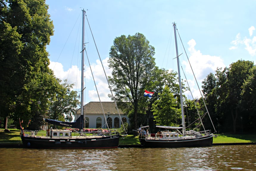 De Prinsentuin in Leeuwarden is een van de mooiste havens van Nederland