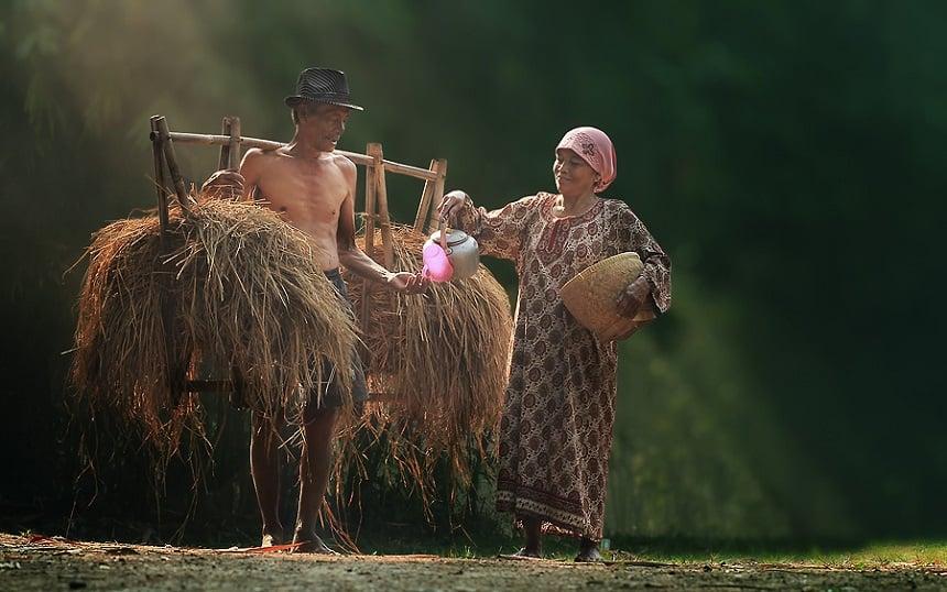 Mensen op Indonesie