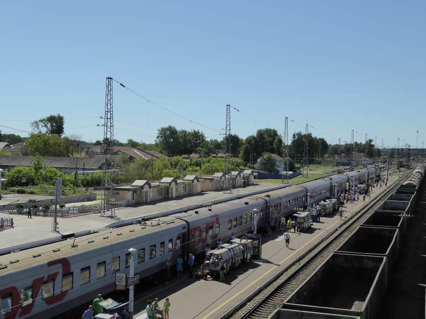 Langere stops Trans-Mongolië Express