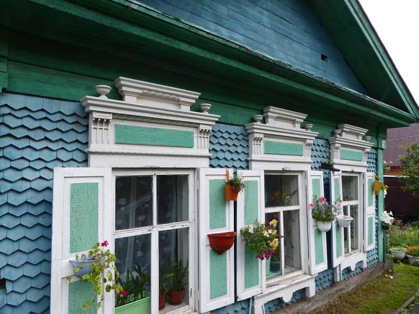 De kleurrijke huisjes van Listvyanka