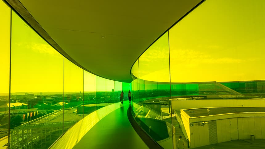Regenboog Panorama op ARoS Art Museum.