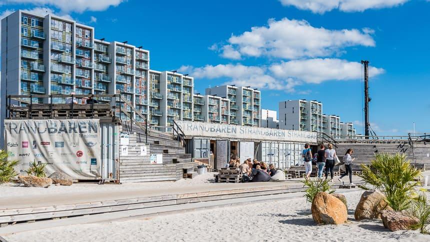 De strandbar in Aarhus Ø