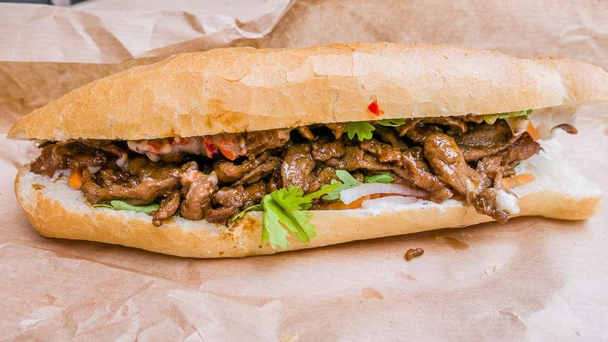 Heerlijke Banhmi Sandwich.
