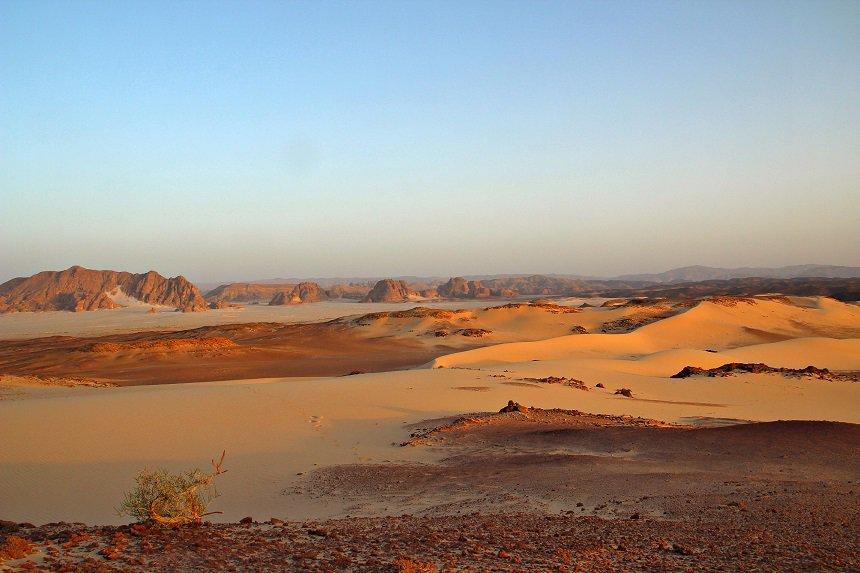 De onvergelijkbare Zuid Sinaï Woestijn