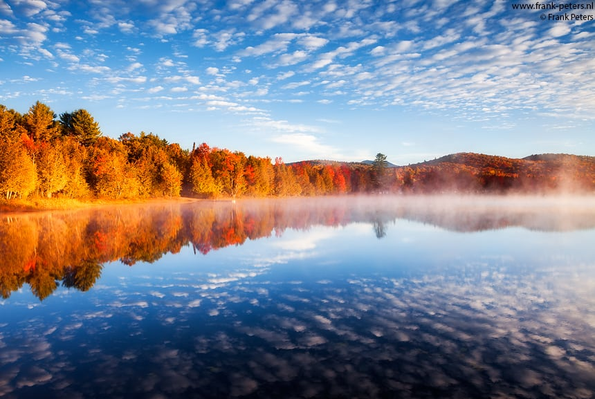 Indian Summer, Lake Harris, Adirondacks, VS, Frank Peters