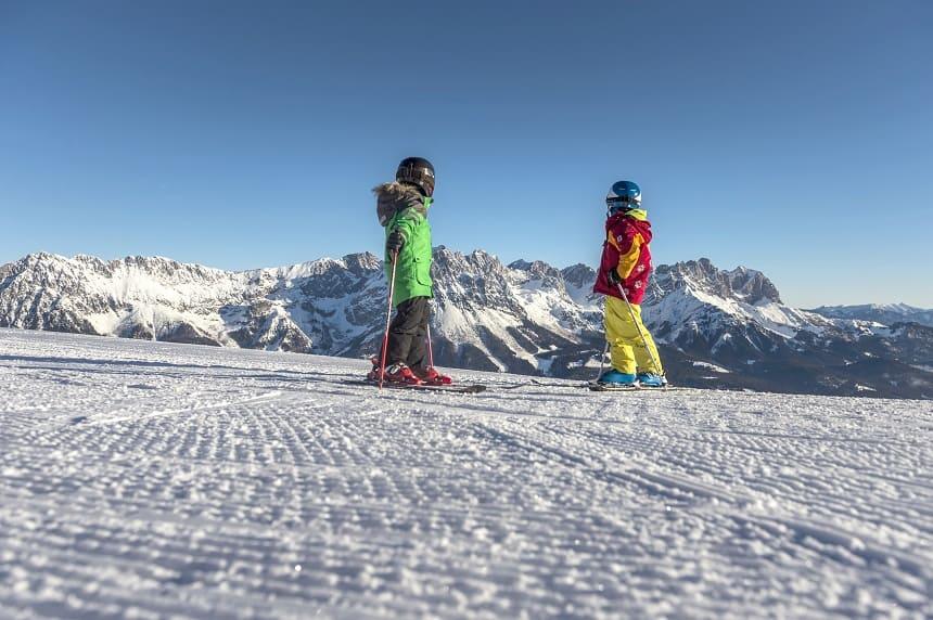 familie skivakantie Wilder Kaiser.