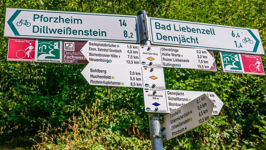 Er zijn tal van fiets- en wandelroutes door het Zwarte Woud.