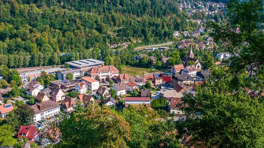 Gezicht op Bad Liebenzell