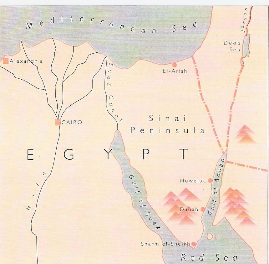 kaart Sinaï