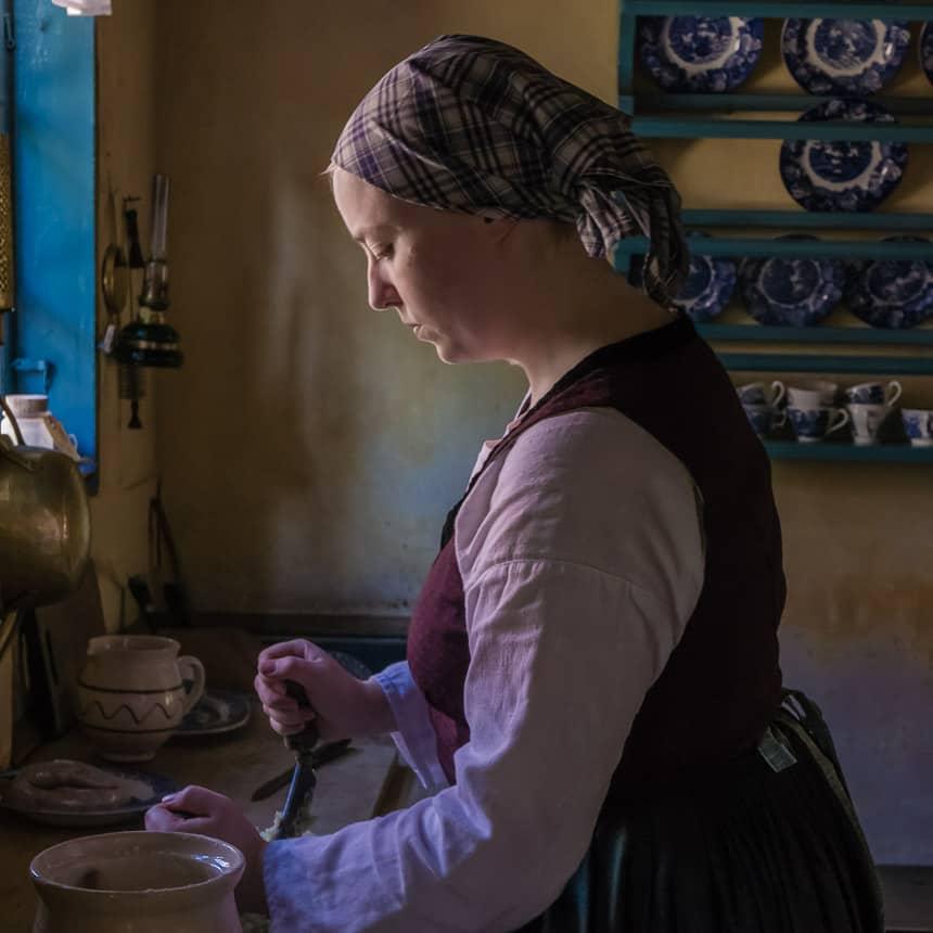 Den Gamle By-Een Vermeer-achtig tafereel