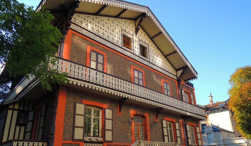 In Vichy kwam Napoleon III erg graag. Hij maakte de stad groot en woonde er in dit Zwitserse chalet.