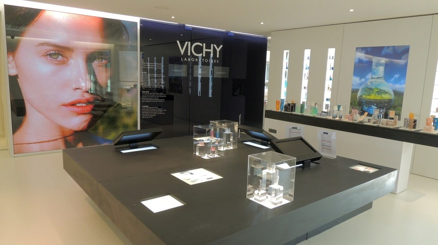 In Vichy is de enige spa ter wereld waar met Vichy producten wordt gewerkt.