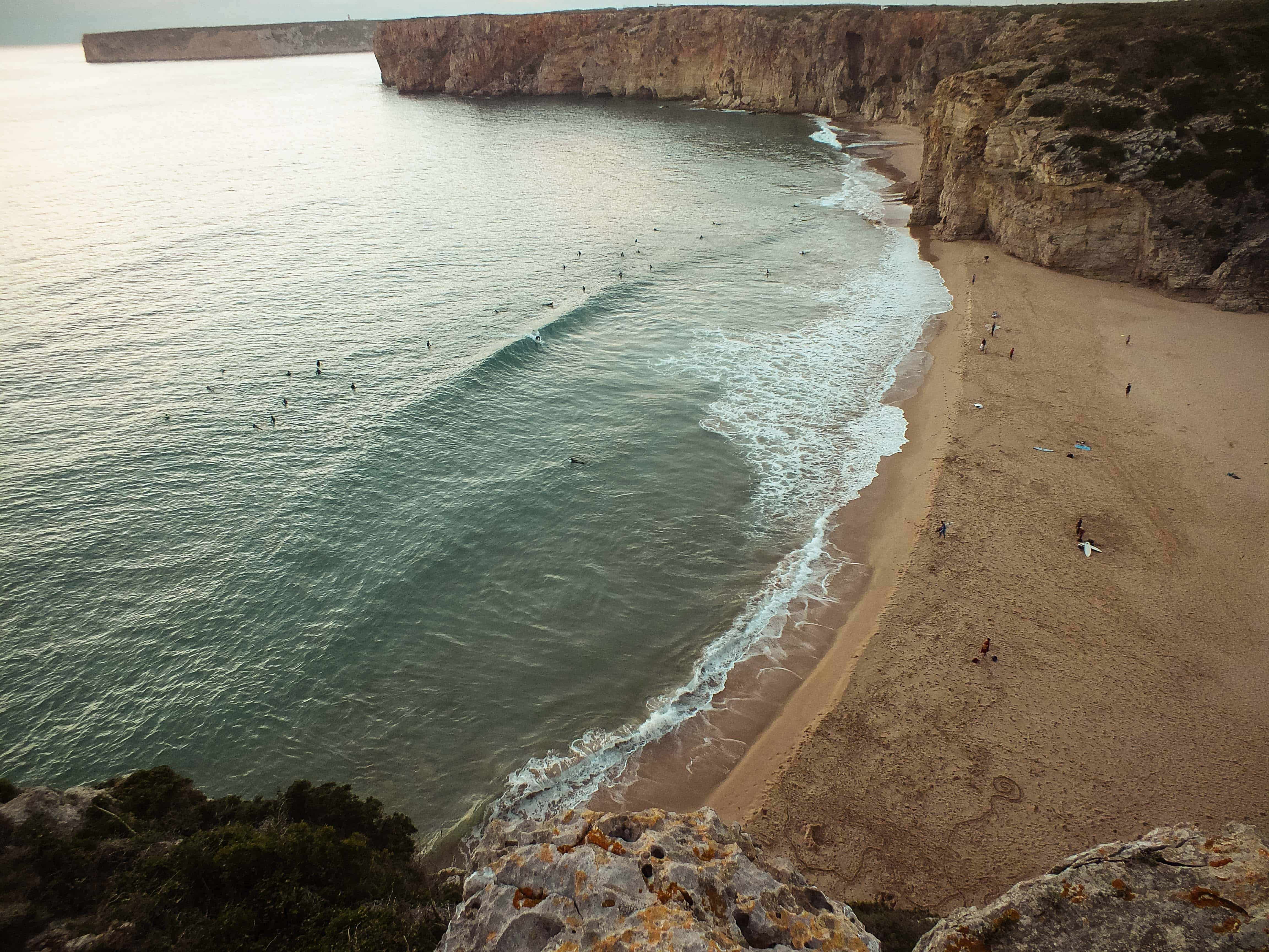 Het strand van Sagres