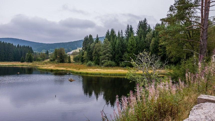 De oevers van de Schlugsee