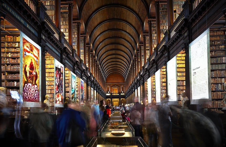 The Long Room in Trinity College