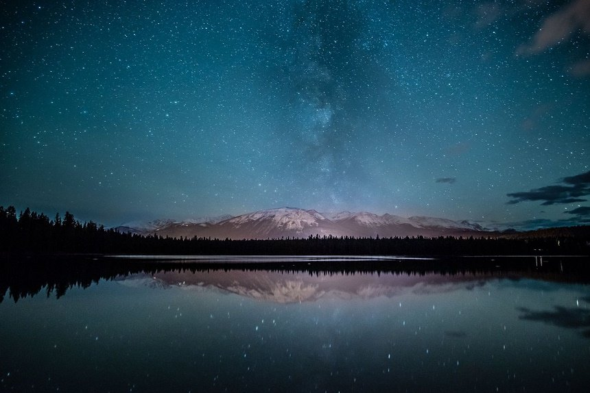 Jasper National Park is een zogenaamde Dark Sky Preserve