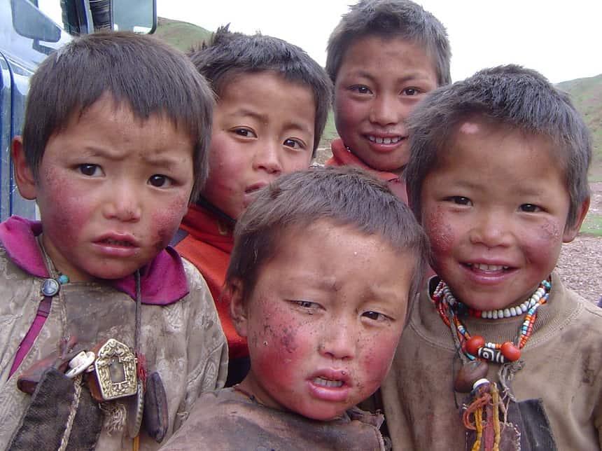 Kinderen uit het hoogst gelegen dorp op aarde (Rongbuk)