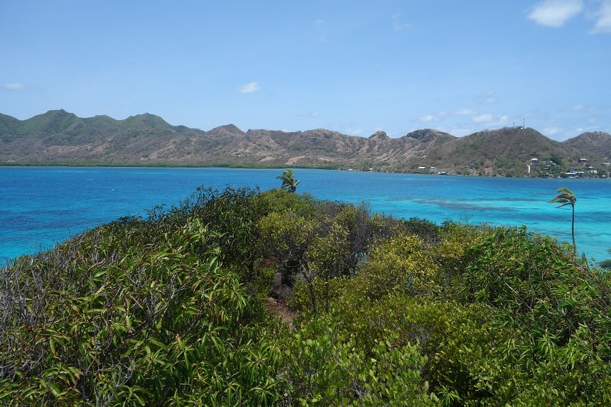 Uitzicht vanaf top Crab Cay