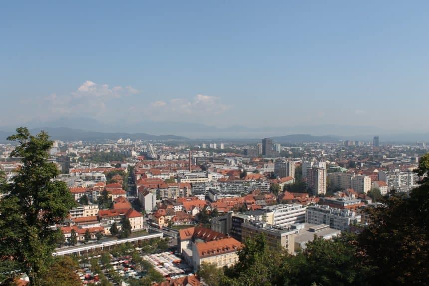Uitzicht vanaf het Ljubljana kasteel over deze mooie stad
