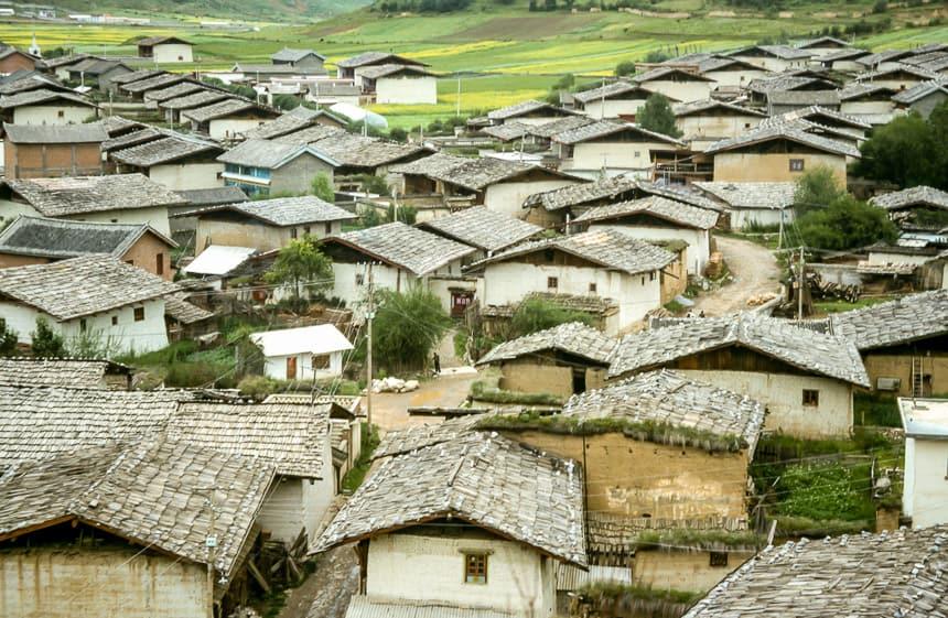 De oude stad Zhongdian