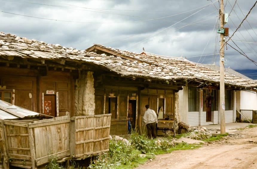De straatjes van de oude stad Zhongdian.