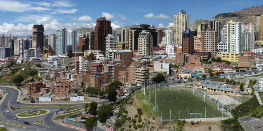Een stukje La Paz van een afstandje...