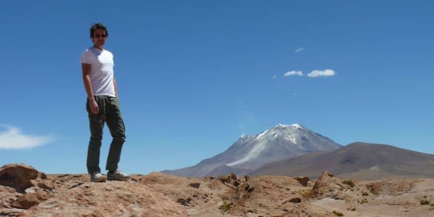 Dat ben ik, ergens in the middle of nowhere in het zuidwesten van Bolivia