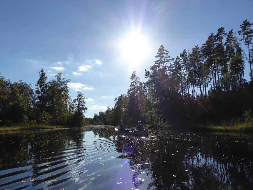 Een heerlijke aanrader: de kanotocht tussen Körro en Brö.