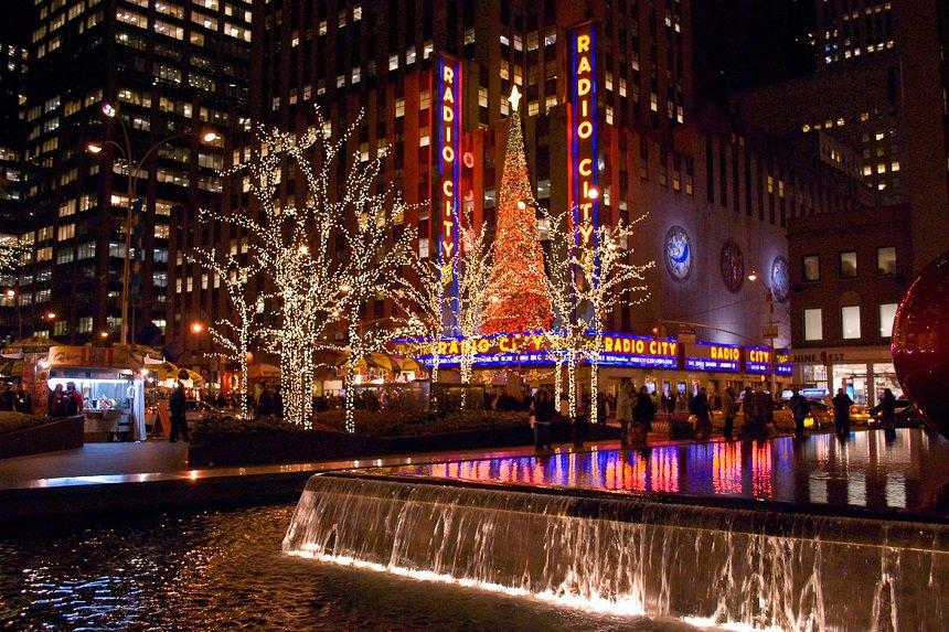 Rockefeller Center met de kerst.