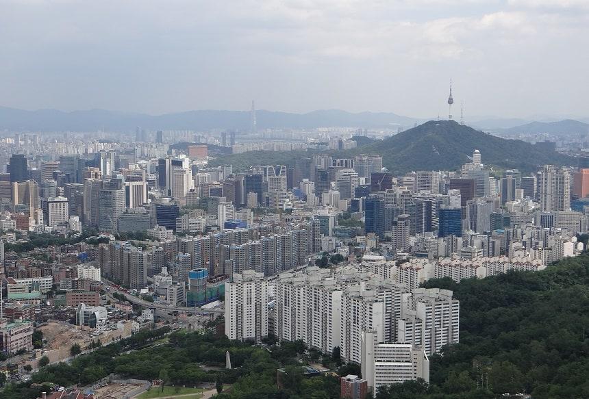 Seoul vanaf Mount Ansan