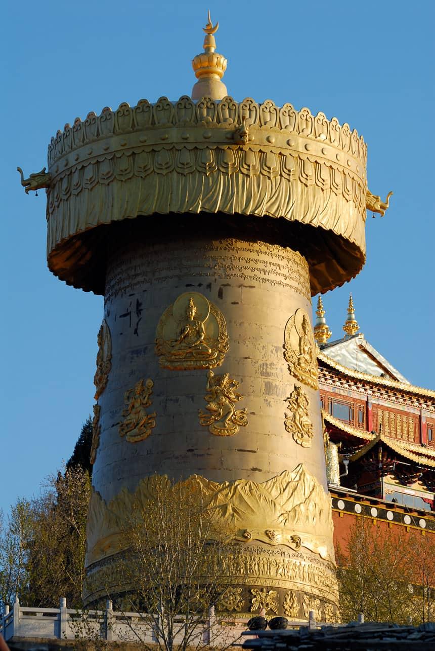 Shangri-la. De gebedsmolen voor Chinese toeristen