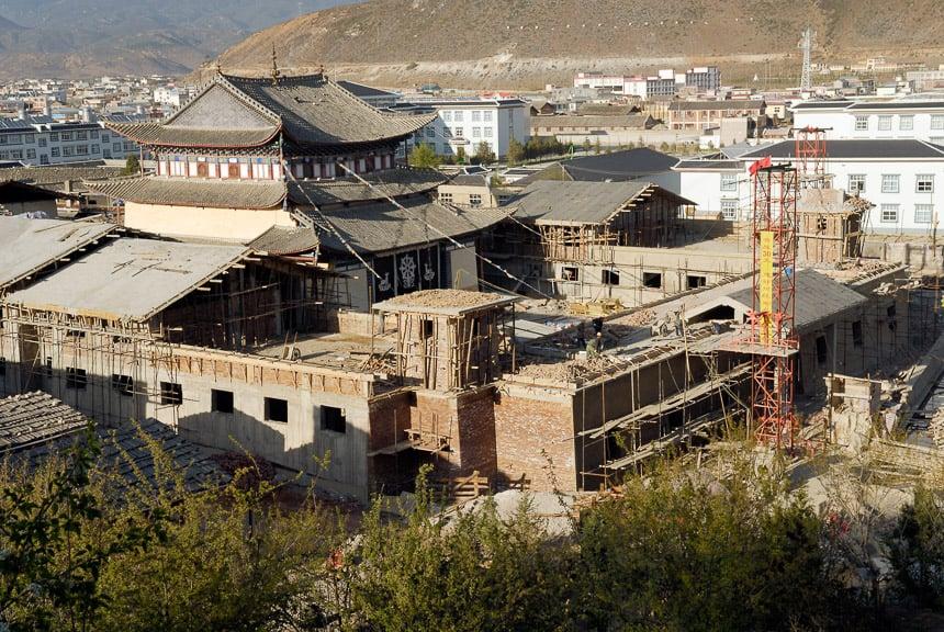 Het nieuwe klooster van Shangri-la