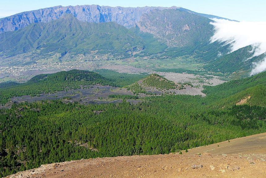 Pico Birigoyo, een vulkaan in de Cumbre Vieja-keten