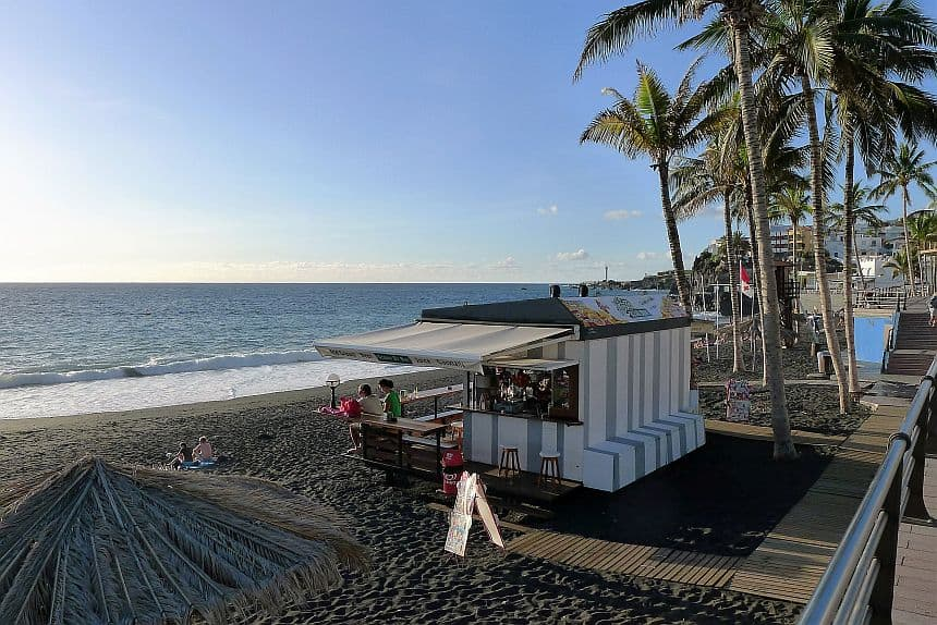 Playa de Puerto Naos is het grootste en meest belangrijke strand van La Palma