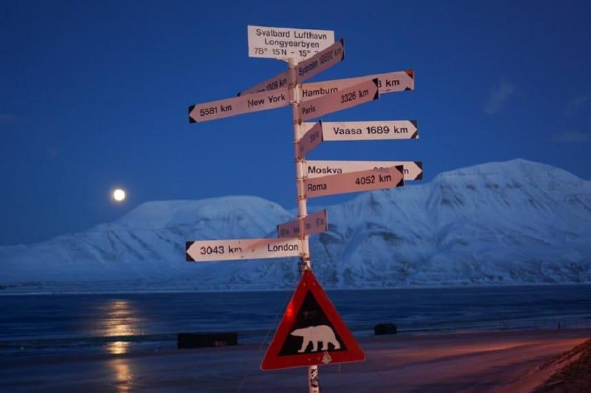 Spitsbergen,  de meest noordelijke plek op aarde waar mensen wonen.