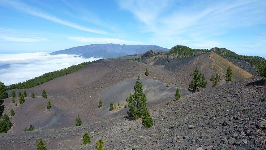 vulkaanroute la palma: lava, vulkanen, asvelden en kraters