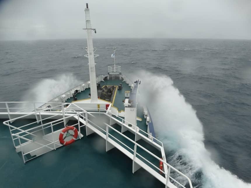 Storm op de Barentszzee