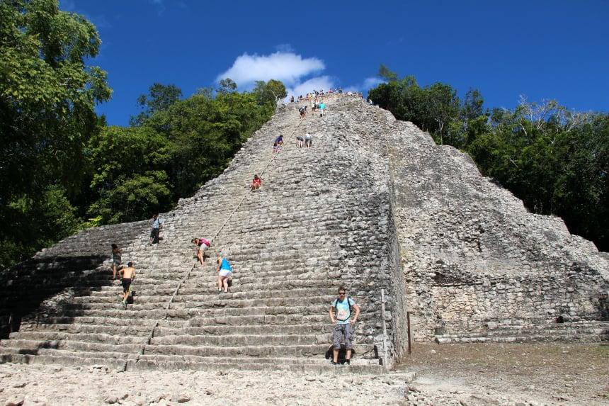Actief in Mexico: beklim de piramide van Coba