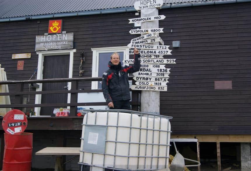 Weerstation op Hopen bij Spitsbergen
